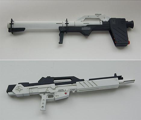 1/100 MG νガンダム バズーカ&ビームライフル