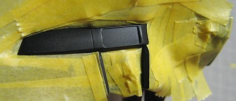 スバルBRZ コックピット塗装4
