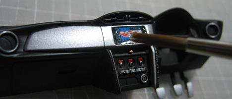 スバルBRZ コックピット塗装11