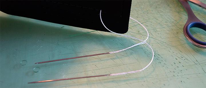レザークラフト 縫い方