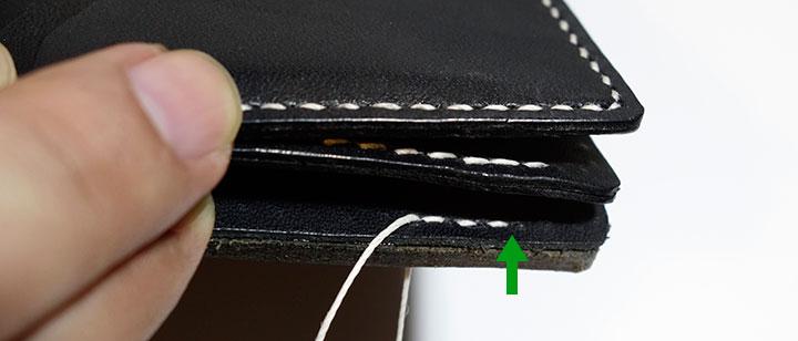縫い始めの位置