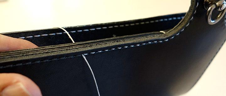 厚みのある箇所を縫う