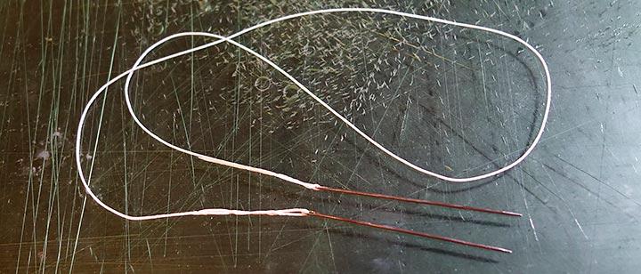レザークラフト、糸の通し方