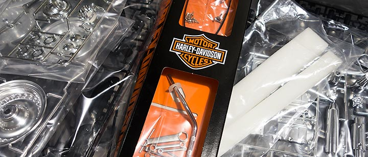 harley-davidson fat boy lo tamiya box
