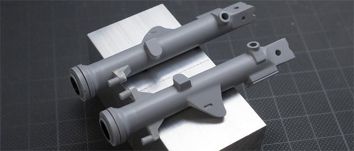 AHM,CB750Fフロントフォークの制作23