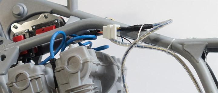AHM CB750F配線とスパイラルチューブの制作-アップ